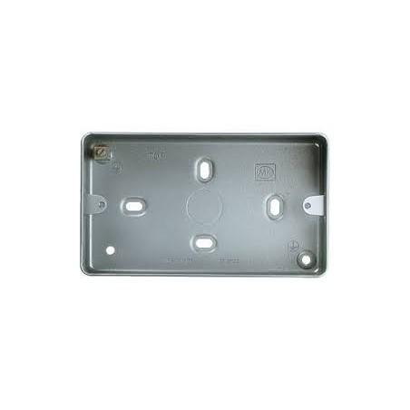 MK K830ALM 2 Gang 40mm Surface Metal Box