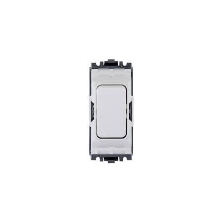 MK K4910WHI 20A Double Pole White Push to Make Grid Switch