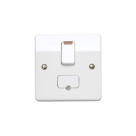 MK K370WHI 13A White Switched Fused Connection Unit with Flex Outlet and Neon Indicator