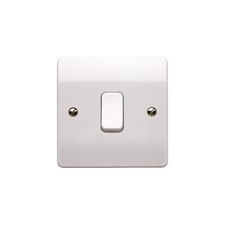 MK K4876WHI 1 Gang 1 Way 10A Double Pole White Switch