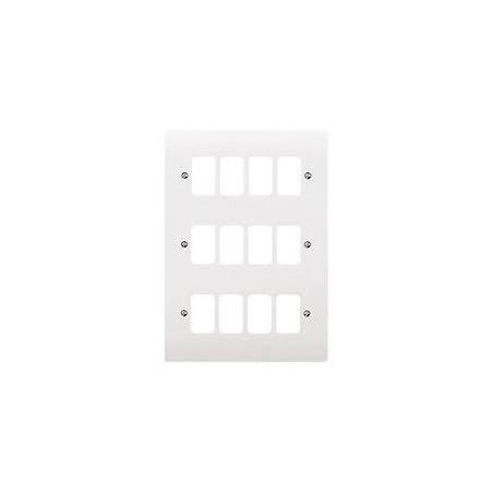 MK K3639WHI 12 gang White Grid Plate