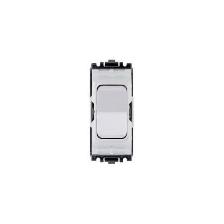 MK K4900WHI 10A Single Pole White Retractive Grid Switch