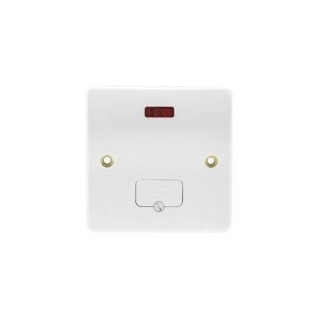 MK K377WHI White unswitched Fused Connection Unit with Flex Outlet and Neon Indicator