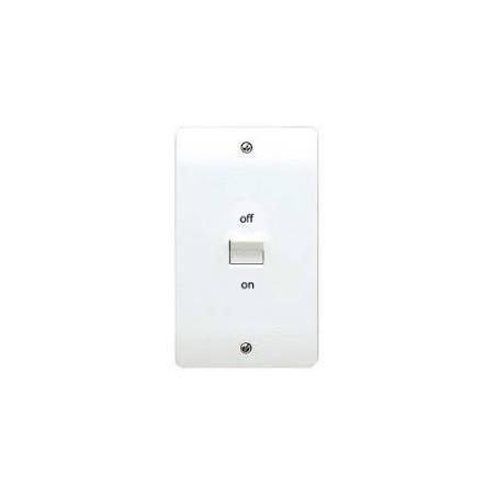 MK K5205WHI 50A 2 Gang White Double Pole Switch