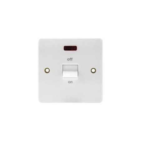 MK K5105WHI 32A Double Pole White Switch with Neon