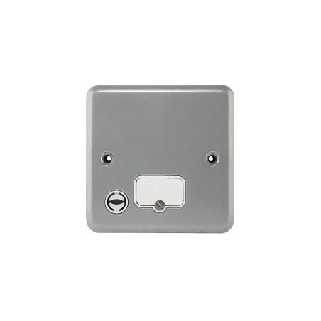 MK K989ALM 13A Metal Unswitched Fused Connection Unit with Flex Outlet