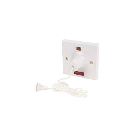 MK 3164WHI 50A Ceiling Pull Switch With Neon