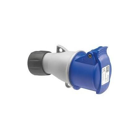 MK K9133BLU 32A 240V Blue Industrial Connector 2P+E