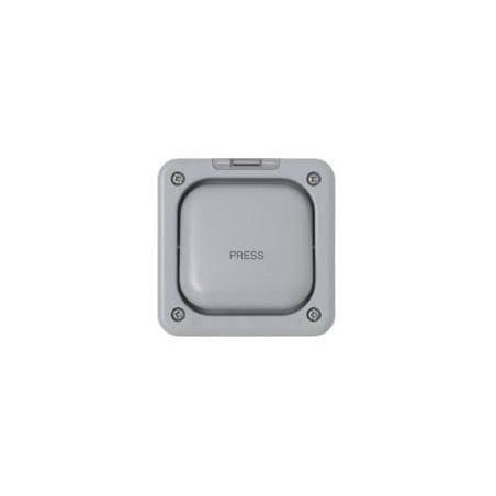 MK K56408GRY 10A 1 Gang 2 Way Single Pole Masterseal Press Switch IP66 Grey
