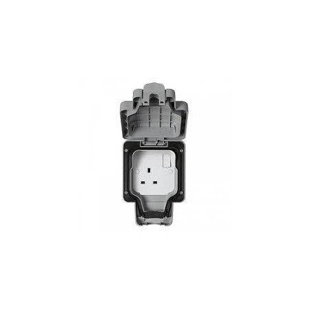 MK K56486GRY 1 Gang Double Pole Switched Masterseal Socket IP66 Grey