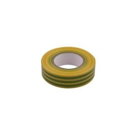 Unicrimp 1933YG 19mmx33m Green/Yellow PVC Insulation Tape 19mm x 33m