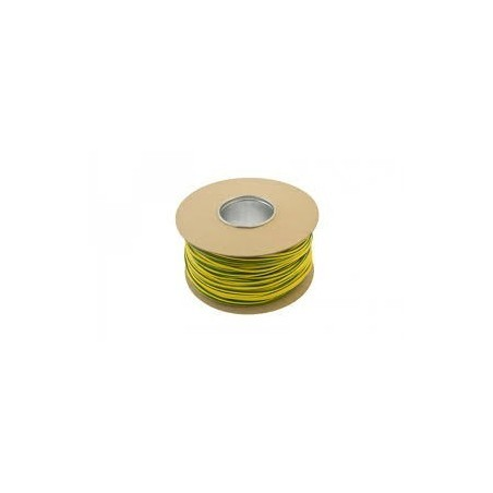 Unicrimp QES4 4mm Green and Yellow Earth Sleeving 100m Drum