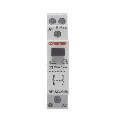 Contactum COA20-20/230 20A 2 Normal Open Din Rail Mounted Contactor