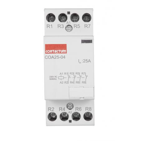 Contactum COA25-40/230 25A 4 Normal Open Din Rail Mounted Contactor