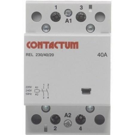 Contactum COA40-40/230 40A 4 Normal Open Din Rail Mounted Contactor