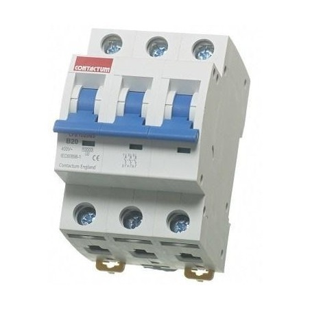 Contactum CPB1050C3 50A Triple Pole MCB Type C 10kA