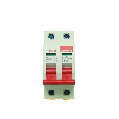 Contactum CPD100 100A Double Pole Mains Isolator