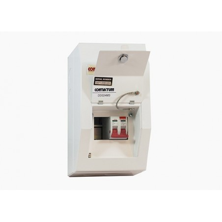 Contactum DD021MS 2 Way Metal Consumer Unit  with 100A Switch Disconnector - Defender 18th Edition
