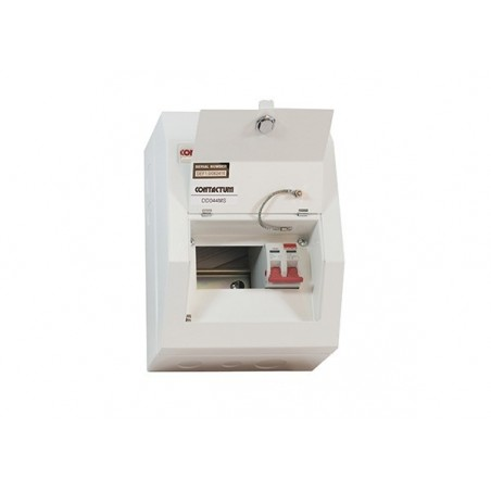 Contactum DD041MS 4 Way Metal Consumer Unit  with 100A Switch Disconnector - Defender 18th Edition