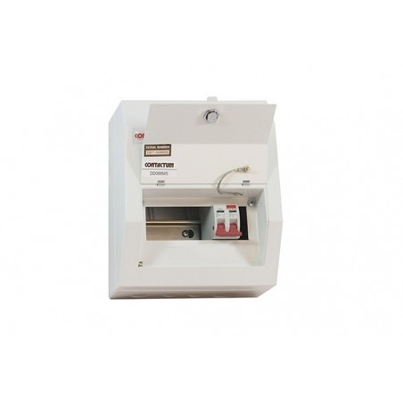 Contactum DD061MS 6 Way Metal Consumer Unit with 100A Switch Disconnector - Defender 18th Edition
