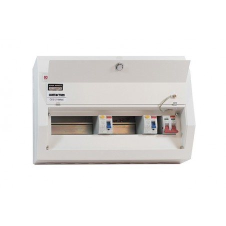 Contactum DDS10188MS 10 Way Metal Consumer Unit with 100A Switch Disconnector + 2 x 80A RCD's - Defender 18th Edition