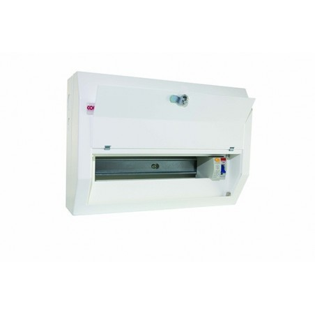 Contactum DR101MS 10 Way Metal Consumer Unit with 100A RCD - Defender 18th Edition
