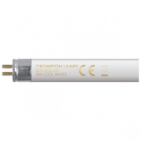 "Crompton FT128CW 8W T5 Fluorescent Tube 300mm/12"" 4000K Cool White"