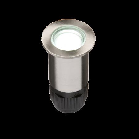 Knightsbridge 4IPW IP67 Small Stainless Steel Ground Fitting 4 x White LED