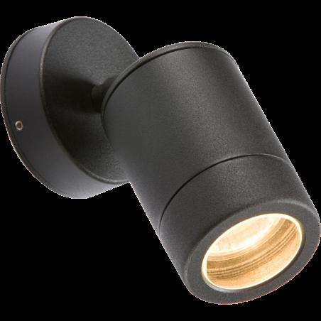 Knightsbridge WALL3LBK 230V IP65 GU10 35W Adjustable Aluminium Powder-Coated Black Wall Light