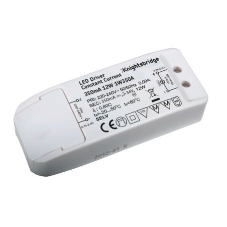 Knightsbridge 1W350A IP20 350mA 12W LED Driver - Constant Current