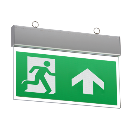 Knightsbridge EMSWING 230V IP20 Ceiling Mounted LED Emergency Exit Sign (maintained/non-maintained)