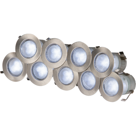Knightsbridge KIT16W 230V IP65 10 x  0.2w Cool White LED Kit 6000K