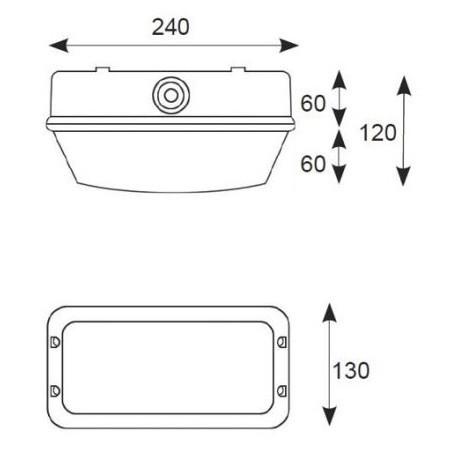 Ansell A100POLY Polycarbonate Bulkhead 100W E27-ES Black-2