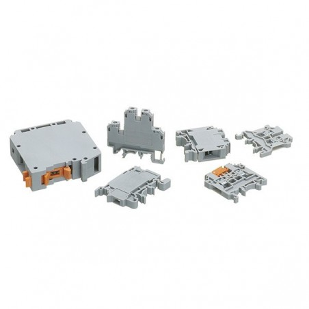 Europa CTS2.5UN 2.5mm Grey Din Rail Screw Clamp Terminal