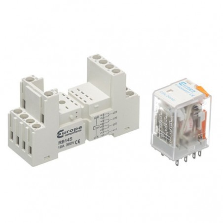 Europa R14S230A4PDT 6A 14 Pin 230V AC Miniature Relay