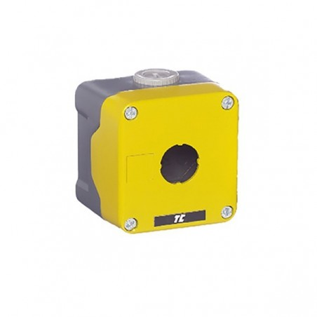 Europa RC-1MY 1 Hole Metal Empty Control Station Yellow Lid