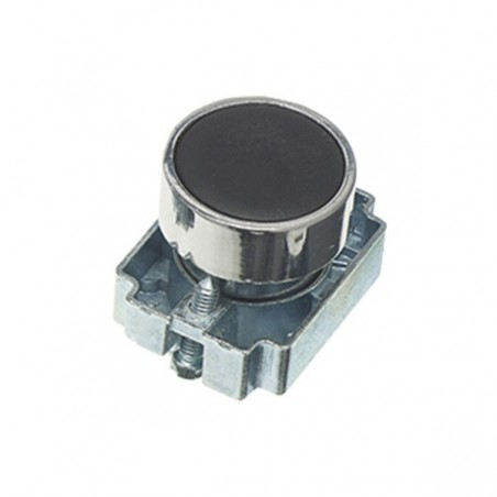 Europa RCAS-PBF2 Black 22.5mm Pushbutton with Collar