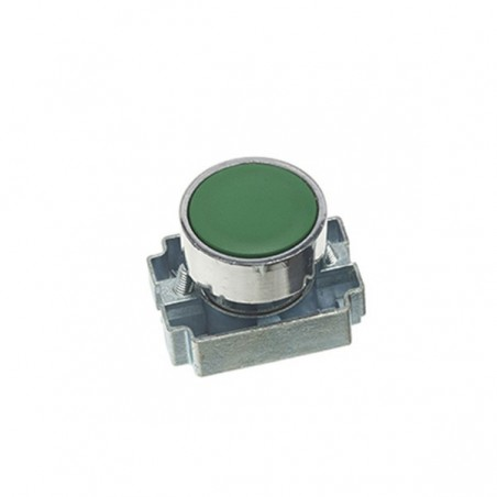 Europa RCAS-PBF3 Green 22.5mm Pushbutton with Collar