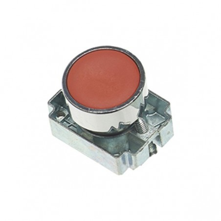 Europa RCAS-PBF4 Red 22.5mm Pushbutton with Collar