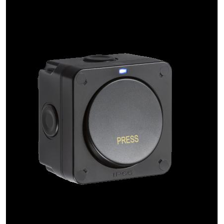 Knightsbridge OP21 IP66 20AX 1G 1-way retractive switch - Black-1