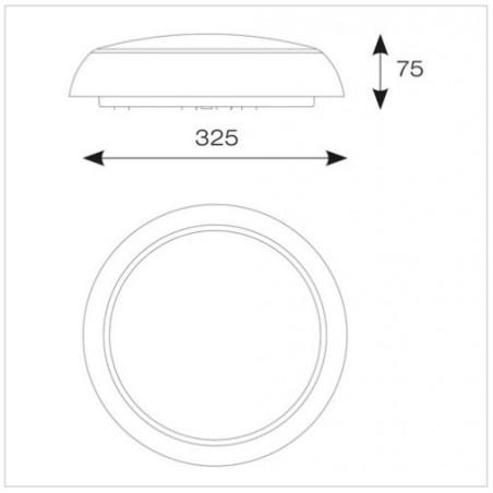 Ansell ADSILED2/MWS Disco Slim LED - Integral Microwave Sensor - 13W CCT 3000K-4000K-2