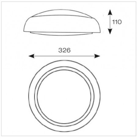 Ansell ADILED2/MWS Disco LED - Integral Microwave Sensor - 14W CCT 3000K-4000K - White / Opal Bulkhead-2