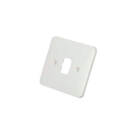 Schneider Lisse GGBL01G 1 Gang 1 Module White Grid Plate 88x88mm