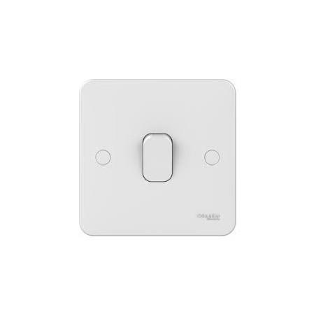 Schneider Lisse GGBL1011 1 Gang 1 Way 10A White Switch