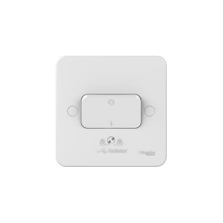 Schneider Lisse GGBL1013 1 Gang 10A TP Fan Isolator White Switch