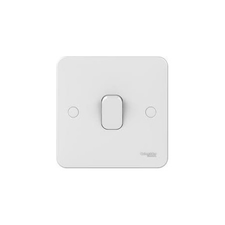 Schneider Lisse GGBL1014 1 Gang Intermediate 10A White Switch