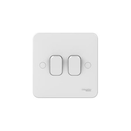 Schneider Lisse GGBL1022 2 Gang 2 Way 10A White Switch