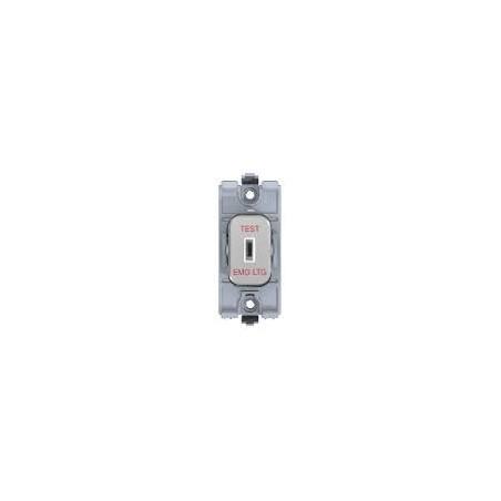 "Schneider Lisse GGBL20DPKELPC 20A Double Pole Polished Chrome Key Switch for Grid marked ""Emergency Lighting"""