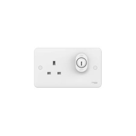 Schneider Lisse GGBL3060L 13A 1 Gang Single Pole White Unswitched Lockable Socket