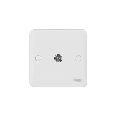 Schneider Lisse GGBL7010 1 Gang White TV /Coaxial Socket